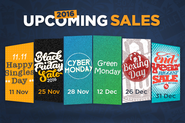 All the upcoming sales of 2016